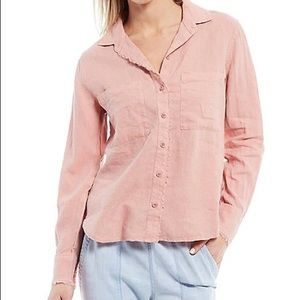 Anthropologie Cloth & Stone Fringe Button Up